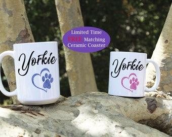 Yorkie coffee mug, Yorkie dog mug, Yorkie mug, Coffee mugs, Yorkie Puppy, Yorkie dogs, Yorkie dog gift, Dog mug, Dog gift, Cute Yorkie mug