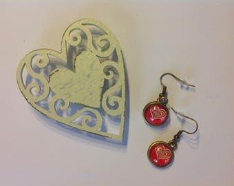 Earrings hearts of love