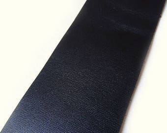 Black color leather band, width: 4.5 cm, sold per 15 cm