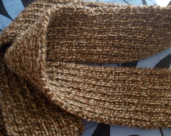 entirely hand knitted wool scarf
