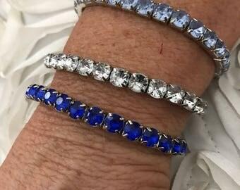 Crystal Rhinestone Stretch Bracelete