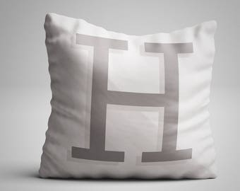 Custom Personalised Letter Pillow - Hampton Grey - Made to order! An ideal gift for him or her