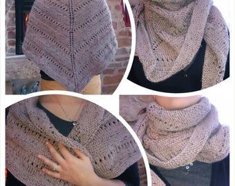 Soft hand knit shawl