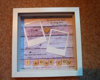 Valentines Day Gift Wife Gift Husband Gift Partner Gift Best Friend Gift I Love You Gift Photo Picture Frame Personalised