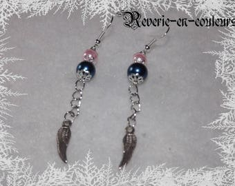 Earrings small silver wings