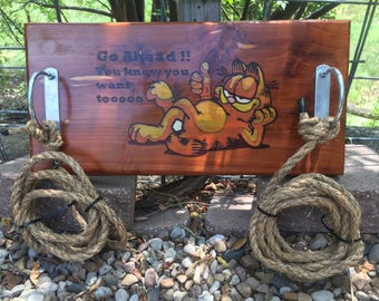 Cedar rope swing