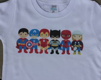 Personalized Superhero/Supergirl Birthday Shirt