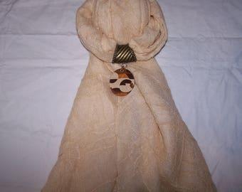 Jewelry scarf: scarf Fimo jewelry, designer jewelry