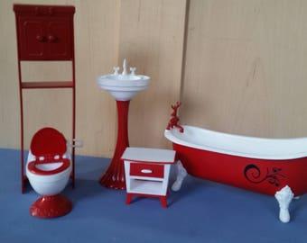 5 piece Barbie bathroom set