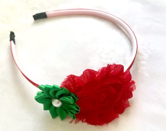 Holiday Headband, Hairpiece, Christmas Headband, Girls Gift, Baby Shower, Back to School, Everyday Wear, Hair Band for Girls Holiday Card