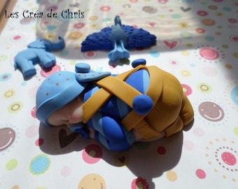 """baby boy theme """"safari"""" with its fun polymer clay."""