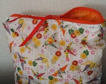 White and multicolored cotton bag