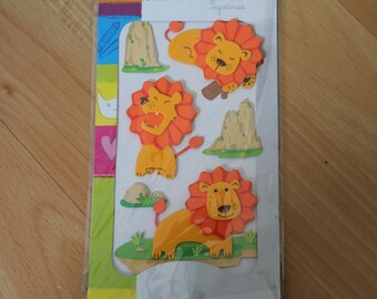 Stickers en mousse 3D Thématique Lions