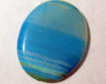 Agate - blue tinted - undrilled - ref5394