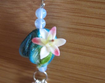 Necklace Pearl blue, Lily and Moonstone