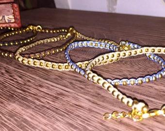 Anklet Ankle bracelet beaded anklet, Gold beaded anklet, gold anklet a gift for her  gold chain anklet gold beads anklet, ankle body jewelry