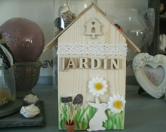 home decor Scandinavian garden and rabbit
