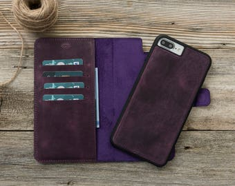 iPhone 7/8 plus magnet Wallet Case, Leather iPhone 8 Wallet Case, iPhone 8 Plus Wallet Case, iphone 8 leather case, iPhone 8 case leather