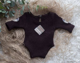 Newborn romper photography prop long sleeve