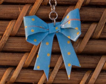 Bow origami earrings