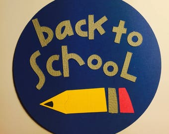 Back to School Paper Die Cut (this can be made in differetn colors and sizes)
