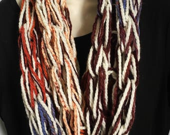 Hand Knit Double Loop Infinity Scarves 16-20