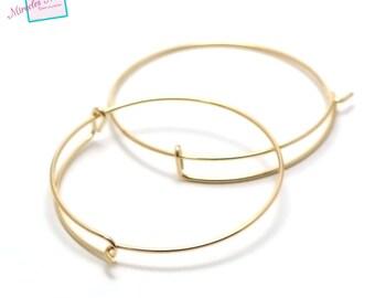 """4 brackets bracelet """"Bangle half crochet"""", gold"""