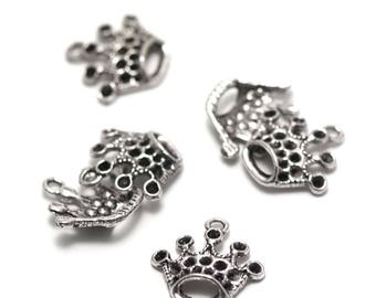 "10 charms has ""Crown"", 18 x 17 mm, silver, 052"