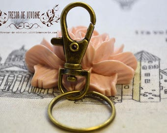Bronze clasp accessories, shape rings with lobster clasp