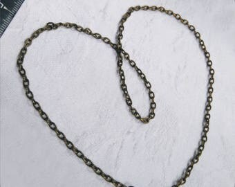 Bronze vintage metal chain 41 cm