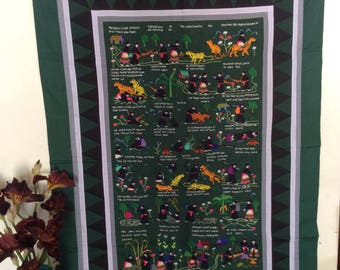 handmade Embroidered Hmong  story cloth