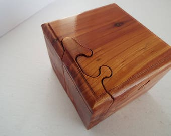 Custom handmade wooden puzzle box, Valentines day gift, anniversary gift, hostess gift, office gift, stash box,gift for him, gift for her