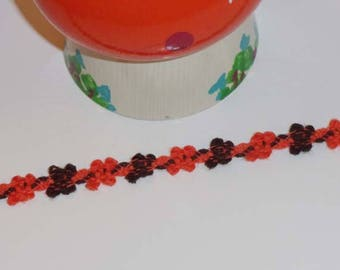 lace vintage mustard orange flowers