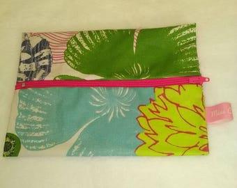 floral spray fabric bag