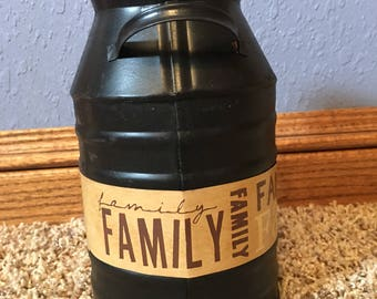 Family Milk Can