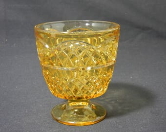 Mayfair Amber Sugar Bowl by Federal Glass