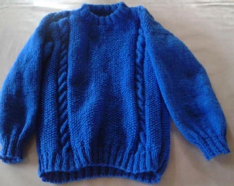 blue sweater for children 4 to 5 years