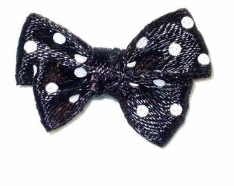 Black Butterfly with black dots 24x18mm ACA192 5 bows