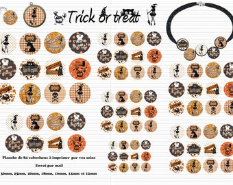 Envoi gratuit ! Images digitales TRICK OR TREAT