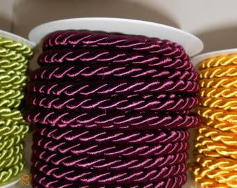 woven purple satin 7mm