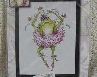 """Design Works """"Frog Dancer"""" Cross Stitch Kit #2757"""