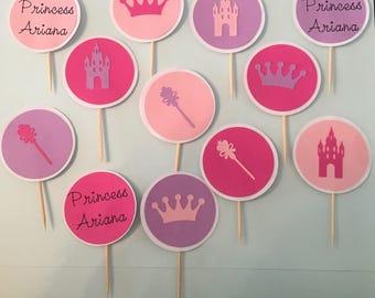 2'' Princess Cupcake Toppers
