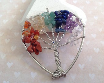 1 large sterling silver tree of life 53 x 49 mm