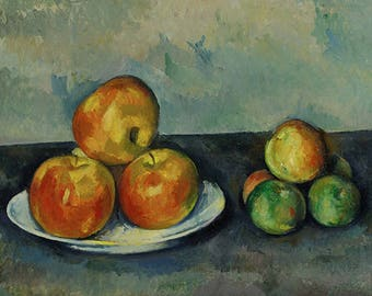 ORIGINAL design, durable and WASHABLE PLACEMAT - Cezanne - still life - Apple - classic.