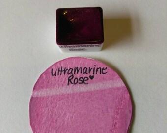Ultramarine Rose Handmade watercolor