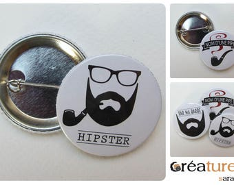 Badge 38mm humor * Hipster * accessories