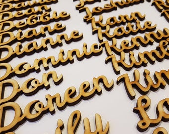 Personalised Wooden Placename