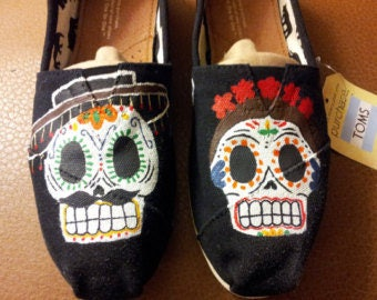 Made to Order Sugar Skull Couple Toms