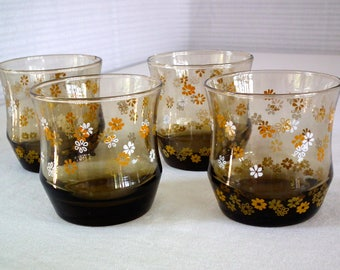 4 Libby glasses / Libby ware / Libby Tumblers / Vintage Libby drinking cups