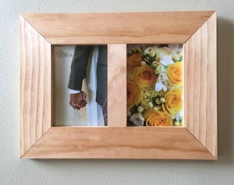 Side by Side 5x7 Pine Picture Frame